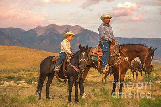 Cowboy and Son by Diane Diederich