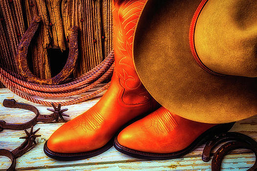 Cowboy Boots And Hat by Garry Gay