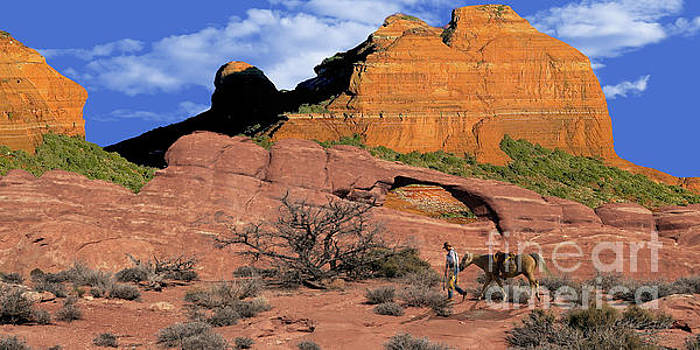 Cowboy Sedona Ver 2 by Larry Mulvehill
