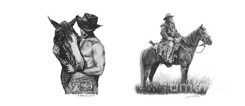 Cowboys and Horses by Marianne NANA Betts