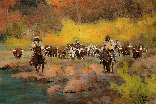 Cowboys and Longhorns by Toni Hopper