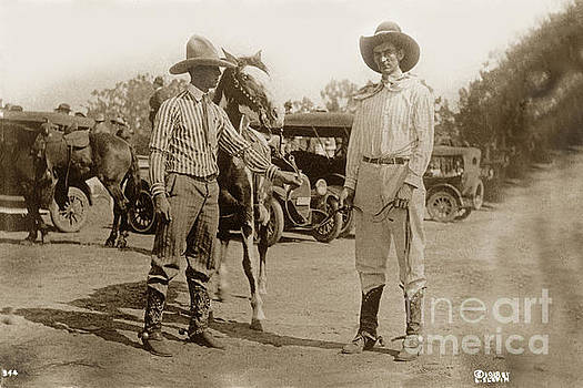 California Views Mr Pat Hathaway Archives - Cowboys horse on right is Sugar Plum Salinas Rodeo July 1918