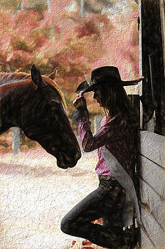 Cowgirl and her Horse by Keith Lovejoy