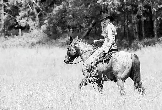 Cowgirl Horseback Riding by Athena Mckinzie