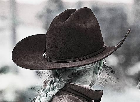 Cowgirl in brown Hat by Susie Fisher
