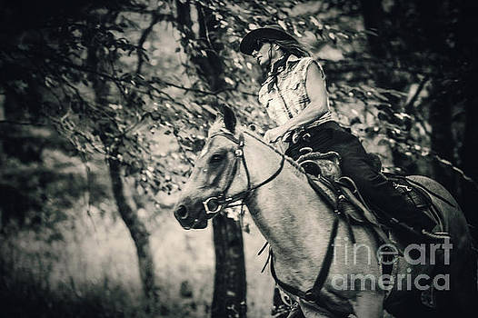 Dimitar Hristov - Cowgirl riding in the forest
