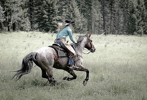 Cowgirls Blazing Saddle by Athena Mckinzie