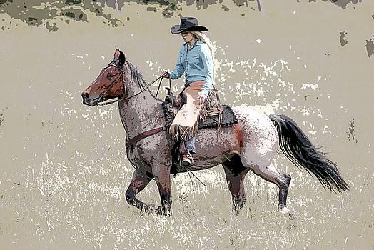Cowgirls Ride III by Athena Mckinzie