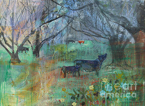 Cows in the Olive Grove by Robin Maria Pedrero