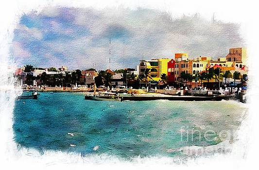 Cozumel  Watercolor by Kathleen Struckle
