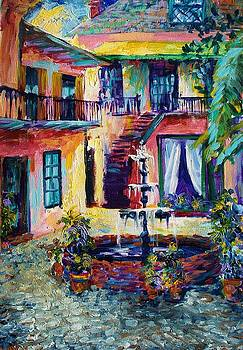 Cozy Courtyard by Saundra Bolen Samuel