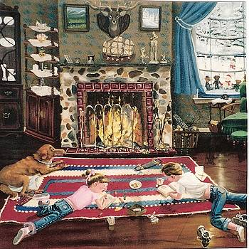 Cozy Fire by Susan Roberts
