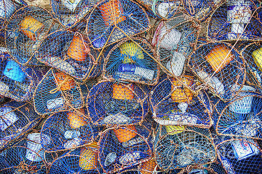 Crab and Lobster Pots on Quayside by David Birchall