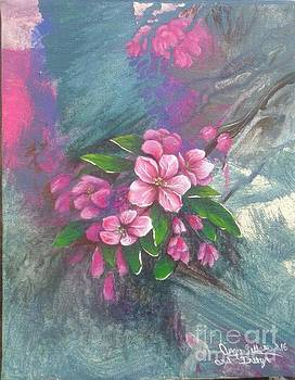 Crab Apple Blossoms by Angie Sellars