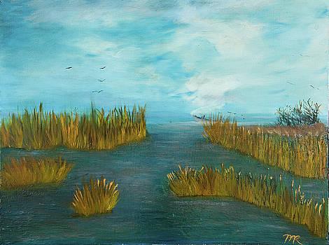 Crab Lady Landing in big Lake by Monica Hebert