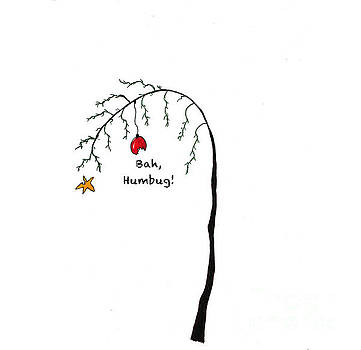 Crabby Bah Humbug Christmas Tree - Bah Humbug by Conni Schaftenaar