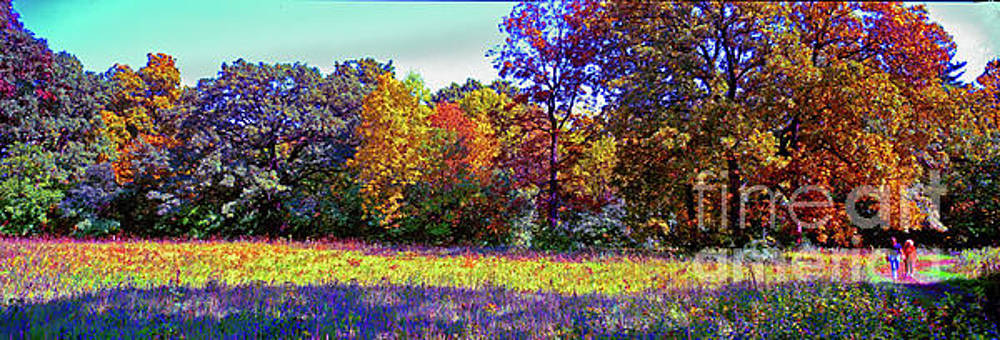 Crabtree conservation fall trail couple by Tom Jelen