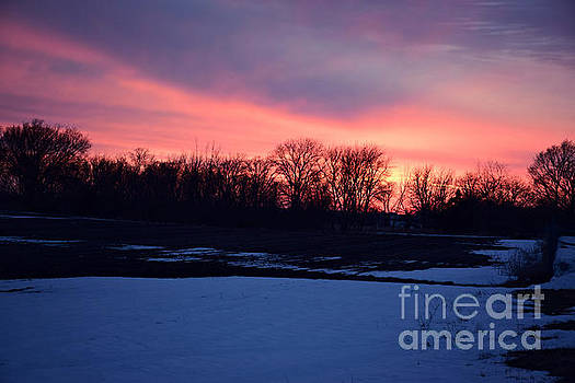 Cracked Sunset by Kathy M Krause