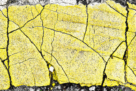 Cracked yellow paint by Tom Gowanlock