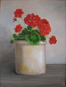 Crackpot Geraniums by Jean LeBaron