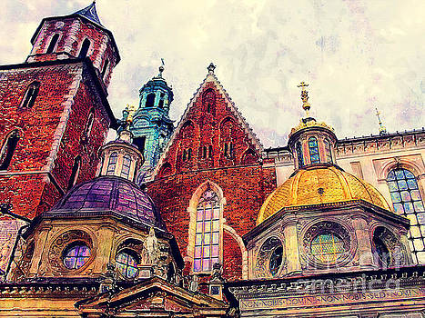 Justyna Jaszke JBJart - Cracow Wawel watercolor