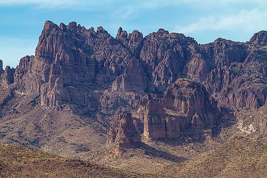 Crags in Cerbat Mountains by Bonnie Follett