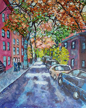Cranberry Street Brooklyn Heights by Lucille Femine