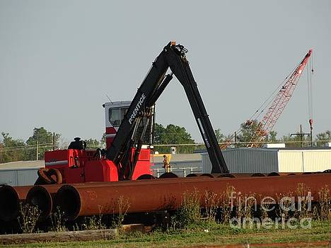 Crane And Pipe by Joseph Baril