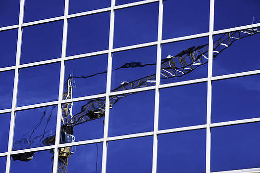Crane Reflection by Kelly E Schultz