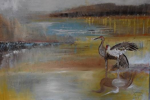 Cranes by Catrina louise Attard