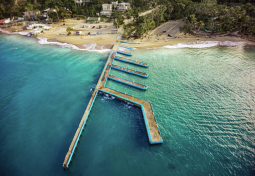Crash Boat Beach From Above by Giovanni Arroyo