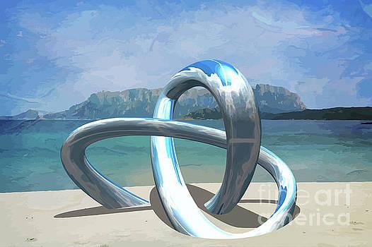 Crash U F O On A Beach by Clive Littin