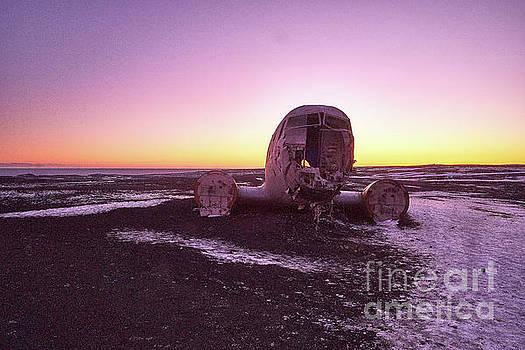 Crashed Douglas DC-3 Super at sunset by Benjamin Wiedmann