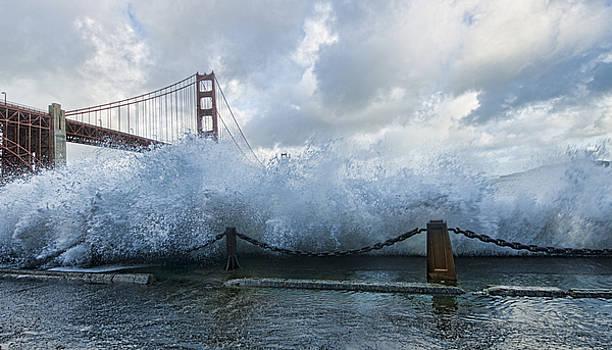 Crashing Wave Golden Gate Bridge King Tide by Steve Siri