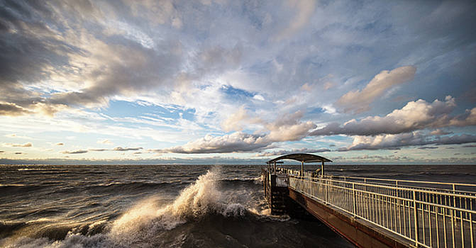 Crashing Waves on Lake Erie by Adam Kilbourne