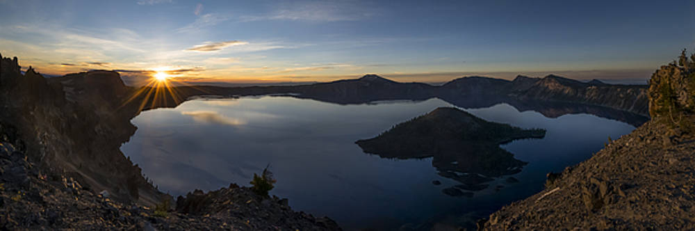 Crater Lake at Sunrise by Tod Colbert