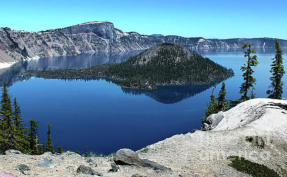 Crater Lake in Southern Oregon by Gregory Dyer