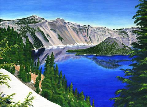 Crater Lake Oregon by Colleen Ward