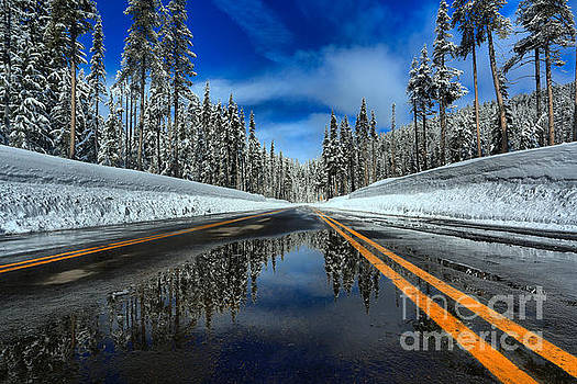 Adam Jewell - Crater Lake Road Reflections