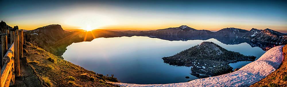 Crater Lake Sunrise by Tony Fuentes