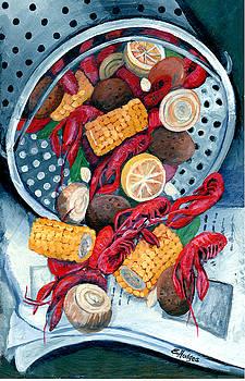 Crawfish Pot by Elaine Hodges
