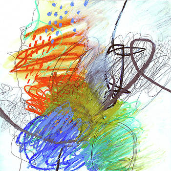 Crayon Scribble #4 by Jane Davies