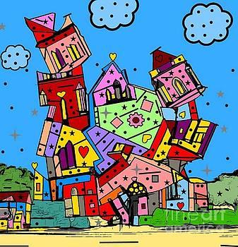 Crazy building Popart by Nico Bielow by Nico Bielow