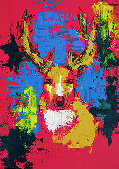 Crazy Deer by ZileArt