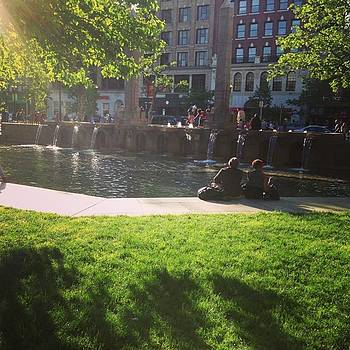 Crazy Gorgeous Day In Copley Square by Pharen Bowman