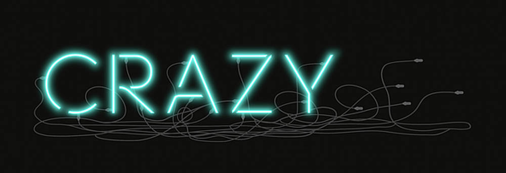 David Hargreaves - Crazy - Neon Sign 1