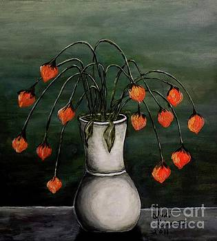 Crazy Red Flowers by Judy Kirouac
