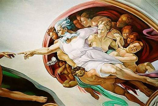 Creation Ceiling Mural by Keith  Goodson
