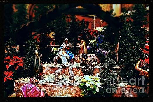 Color Vibe Nativity - Natural Light with Black Border by Frank J Casella