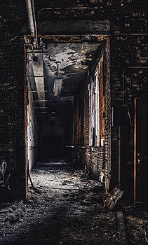 Creepy Hallway In Abandoned Building by Dylan Murphy